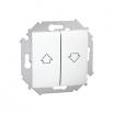 Przycisk żaluzjowy Kontakt-Simon 15 1591335-030 roletowy biały