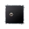 Gniazdo antenowe Kontakt-Simon Basic BMAF1.01/28 typu F pojedyncze grafitowy mat