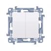 Przycisk podwójny Kontakt-Simon 10 CP2.01/11 biały