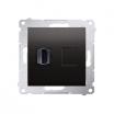 Gniazdo HDMI Kontakt-Simon Simon 54 DGHDMI.01/48 pojedyncze antracyt