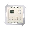 Regulator temperatury Kontakt-Simon 54 DTRNW.01/41 z wyświetlaczem z czujnikiem wewnętrznym kremowy