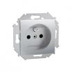 Gniazdo pojedyncze Kontakt-Simon 15 1591408-026 z uziemieniem aluminium