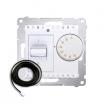 Regulator temperatury Simon 54 DRT10Z.02/11 z czujnikiem zewnętrznym biały Kontakt-Simon