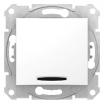 Łącznik schodowy Schneider Sedna SDN1500221 z podświetleniem biały