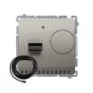 Regulator temperatury Kontakt-Simon Basic BMRT10ZS.02/29 z czujnikiem zewnętrznym satynowy