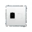 Gniazdo komputerowe Kontakt-Simon Basic BM61.01/11 pojedyncze 1xRJ45 kategoria 6 z osłoną białe