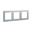 Ramka potrójna Kontakt-Simon 15 1501630-026 aluminium metalizowane