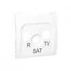 Pokrywa gniazda antenowego Kontakt-Simon Classic MASP/11 R-TV-SAT 3 otwory biała
