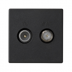 Gniazdo antenowe Kontakt-Simon Connect K130A/14 RTV-SAT płytka K45 45x45 mm szare grafitowe