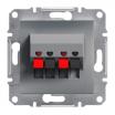 Gniazdo głośnikowe Schneider Asfora EPH5700162 podwójne stalowe