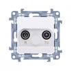 Gniazdo antenowe Kontakt-Simon Simon 10 CAP10.01/11 R-TV przelotowe białe