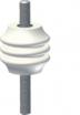 Izolator wsporczy żeberkowy WZ-75 3kV Radpol 7223/1-00, biały siarkowy