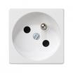 Gniazdo pojedyncze Kontakt-Simon Connect K22/9 K45 z uziemieniem 16A IP20 czysta biel
