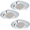 Plafon Eglo Tedo 95362 lampa oprawa wpuszczana downlight oczko zestaw 3szt 3x5W GU10-LED chrom