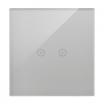 Panel dotykowy Simon 54 Touch DSTR12/71 1 moduł 2 pola dotykowe poziome, srebrna mgła