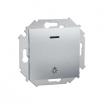Przycisk światło Kontakt-Simon 15 1591161-026 z podświetleniem aluminium