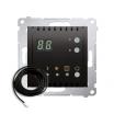 Regulator temperatury Kontakt-Simon 54 DTRNSZ.01/48 podłogowy z wyświetlaczem z czujnikiem zewnętrznym antracyt