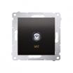Gniazdo antenowe Kontakt-Simon 54 DASF1.01/48 pojedyncze SAT typu F antracyt