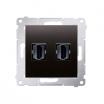 Gniazdo HDMI Kontakt-Simon Simon 54 DGHDMI2.01/48 podwójne antracyt