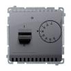 Regulator temperatury Kontakt-Simon Basic BMRT10w.02/43 z czujnikiem wewnętrznym srebrny mat