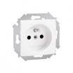 Gniazdo pojedyncze Kontakt-Simon 15 1591418-030 z uziemieniem z przesłonami białe