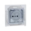 Gniazdo hermetyczne Kontakt-Simon 15 1591950B-026A z uziemieniem IP44 bez uszczelki z przesłonami z klapką transparentną aluminium metalizowane