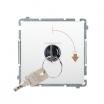Łącznik pojedynczy z kluczem Kontakt-Simon Basic BMP1K.01/11 chwilowy 2-pozycyjny 0-1 biały