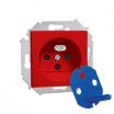 Gniazdo pojedyncze Kontakt-Simon Simon 15 1591460-037 z uziemieniem DATA z kluczem czerwone