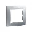 Ramka pojedyncza Kontakt-Simon 15 1501610-026 aluminium metalizowane