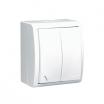 Łącznik schodowy hermetyczny Kontakt-Simon Aquarius AQW6/2L/11 natynkowy podwójny IP54 z podświetleniem biały