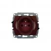 Gniazdo pojedyncze Karlik Trend 4GP-1zp z uziemieniem przesłony torów prądowych brązowe