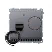 Regulator temperatury Kontakt-Simon Basic BMRT10ZS.02/43 z czujnikiem zewnętrznym srebrny
