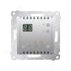 Regulator temparatury Kontakt-Simon 54 DTRNW.01/43 z wyświetlaczem z czujnikiem wewnętrznym srebrny mat