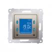 Regulator temperatury Kontakt-Simon 54 D75817.01/44 z wyświetlaczem z czujnikiem wewnętrznym złoty mat