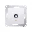 Gniazdo antenowe Kontakt-Simon 54 DASF1.01/11 pojedyncze SAT typu F białe