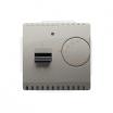 Regulator temperatury Kontakt-Simon Basic BMRT10W.02/29 z czujnikiem wewnętrznym satynowy