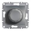 Ściemniacz obrotowy Schneider Asfora EPH6500162 z funkcją łącznika schodowego RL stalowy