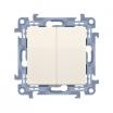 Przycisk podwójny Kontakt-Simon 10 CP2.01/41 kremowy