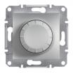 Ściemniacz obrotowy Schneider Asfora EPH6500161 z funkcją łącznika schodowego RL aluminium
