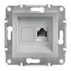 Gniazdo komputerowe Schneider Asfora EPH5000161 pojedyncze RJ45 kategoria 5e STP aluminium