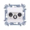 Gniazdo antenowe Kontakt-Simon Simon 10 CASP.01/11 R-TV-SAT przelotowe białe