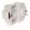 Rozgałęźnik wtyczkowy z wyłącznikiem, przesłona torów prądowych 230 V / 50 Hz 3680 W W-01138 Plastrol