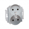 Gniazdo podwójne Kontakt-Simon 15 1591462-026 z uziemieniem aluminium metalizowane