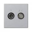 Gniazdo antenowe Kontakt-Simon Connect K130A/8 RTV-SAT płytka K45 45x45 mm aluminium