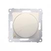 Ściemniacz obrotowy Simon 54 DS9L2.01/41 do LED ściemnialnych 5-215W dwubiegunowy kremowy Kontakt-Simon