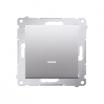 Łącznik jednobiegunowy Simon 54 DW1AL.01/43 16AX z podświetleniem LED srebrny mat Kontakt-Simon