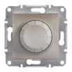 Ściemniacz obrotowy Schneider Asfora EPH6500169 z funkcją łącznika schodowego RL brązowy