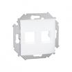 Plakietka gniazda teleinformatcznego Kontakt-Simon 15 1591530-030 podwójna płaska Keystone biała