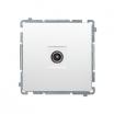 Gniazdo antenowe Kontakt-Simon Basic BMAK3.01/11 RTV pojedyncze końcowe separowane białe