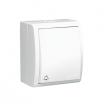 Przycisk dzwonek hermetyczny Kontakt-Simon Aquarius AQD1L/11 natynkowy IP54 z podświetleniem biały